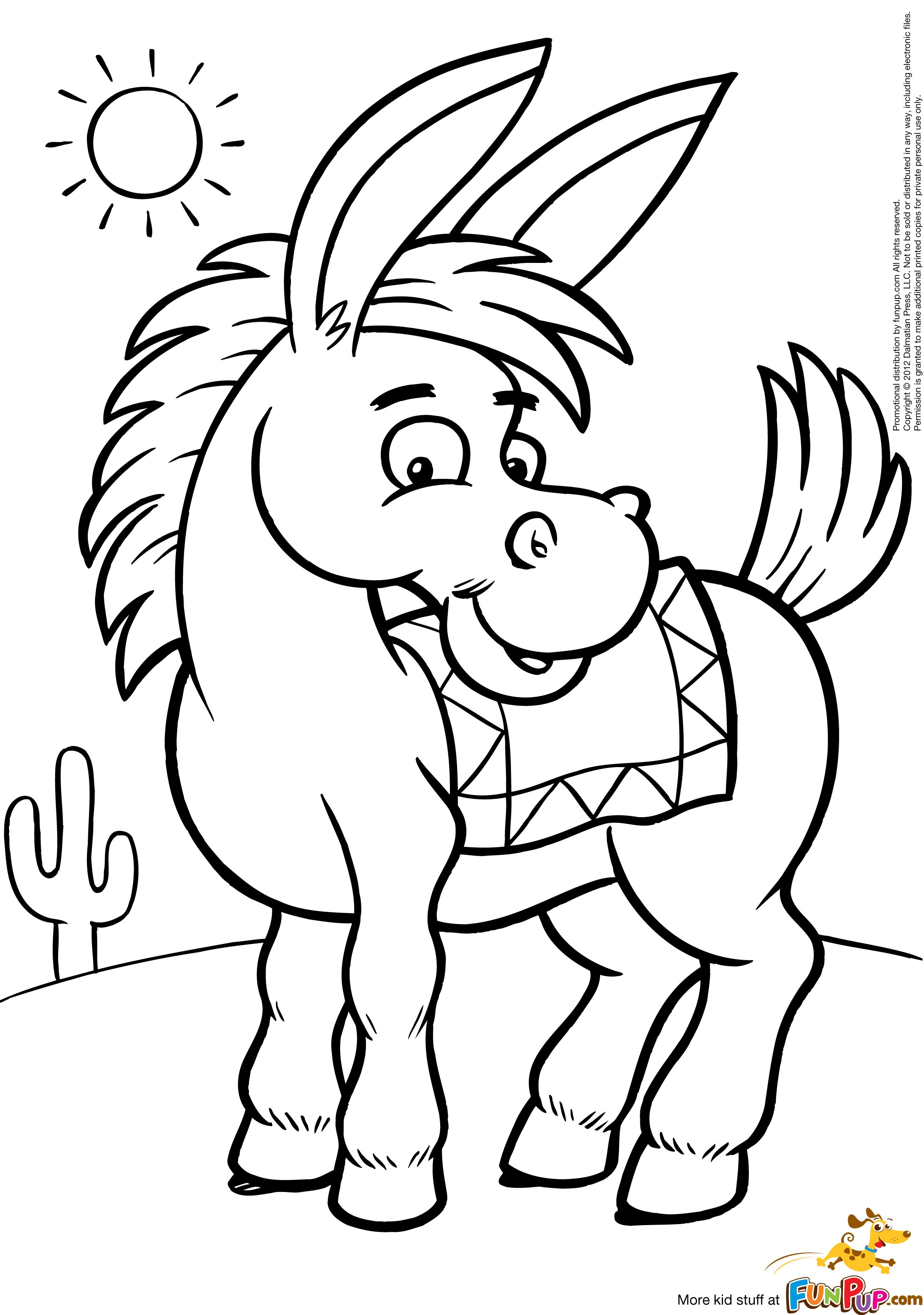 donkey coloring pages to download and print for free. Black Bedroom Furniture Sets. Home Design Ideas