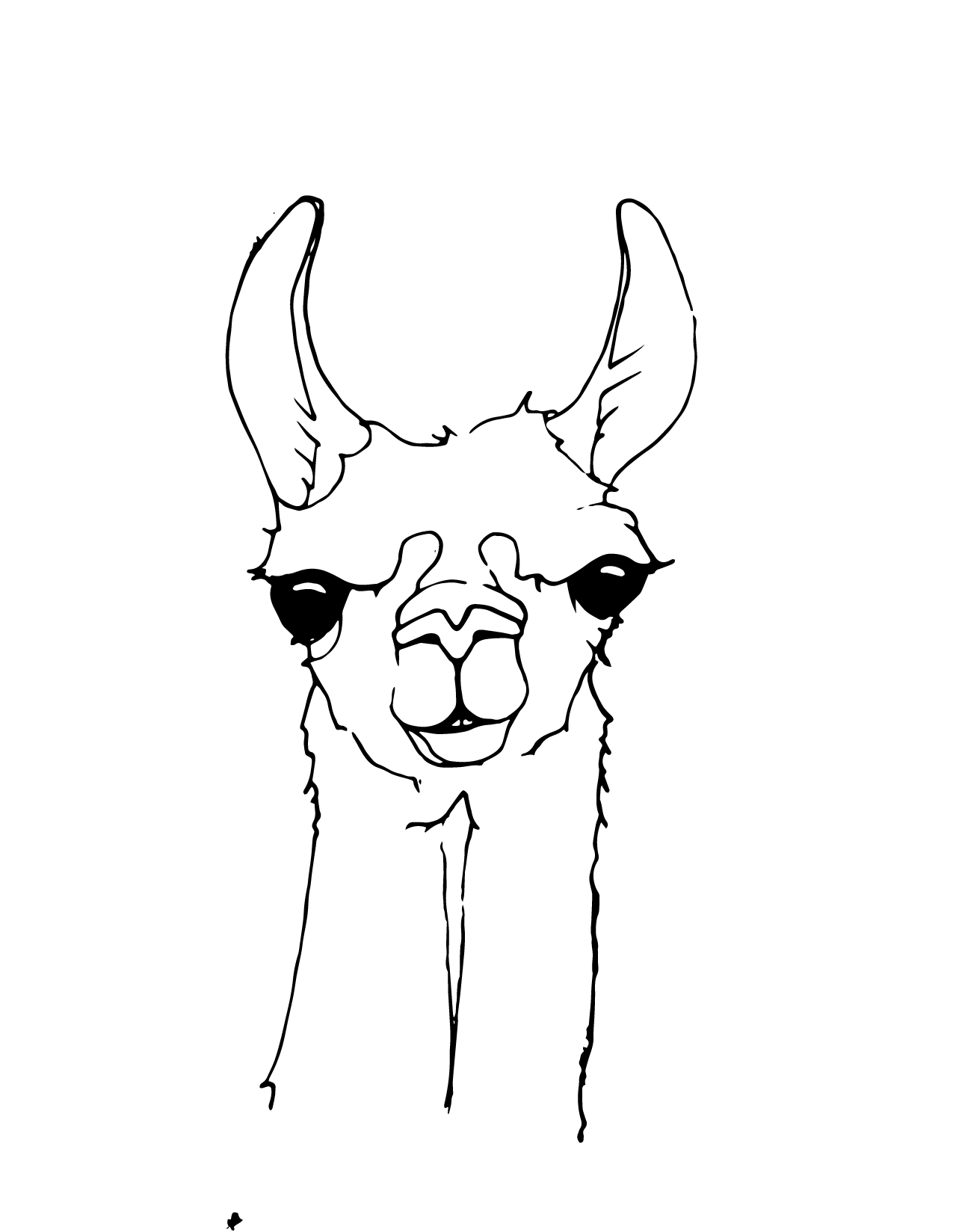 coloring pages llamas - photo#25