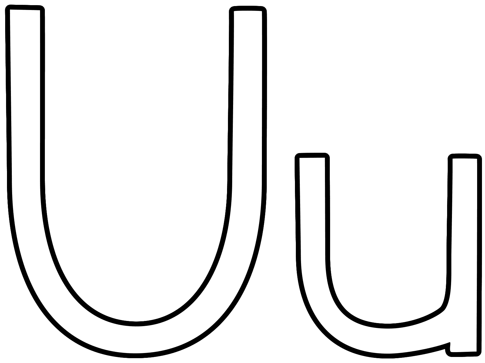 Letter u coloring pages to download