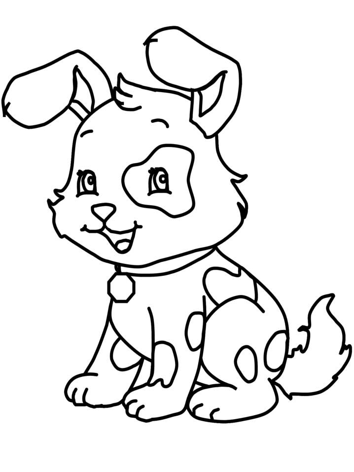 Cute Dog Coloring Pages