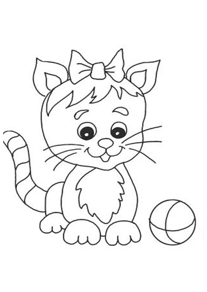 Cute cat coloring pages to download