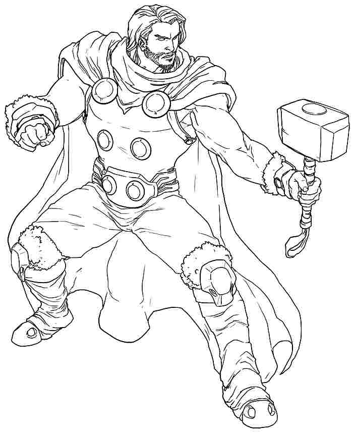 Thor coloring pages to download and print for free