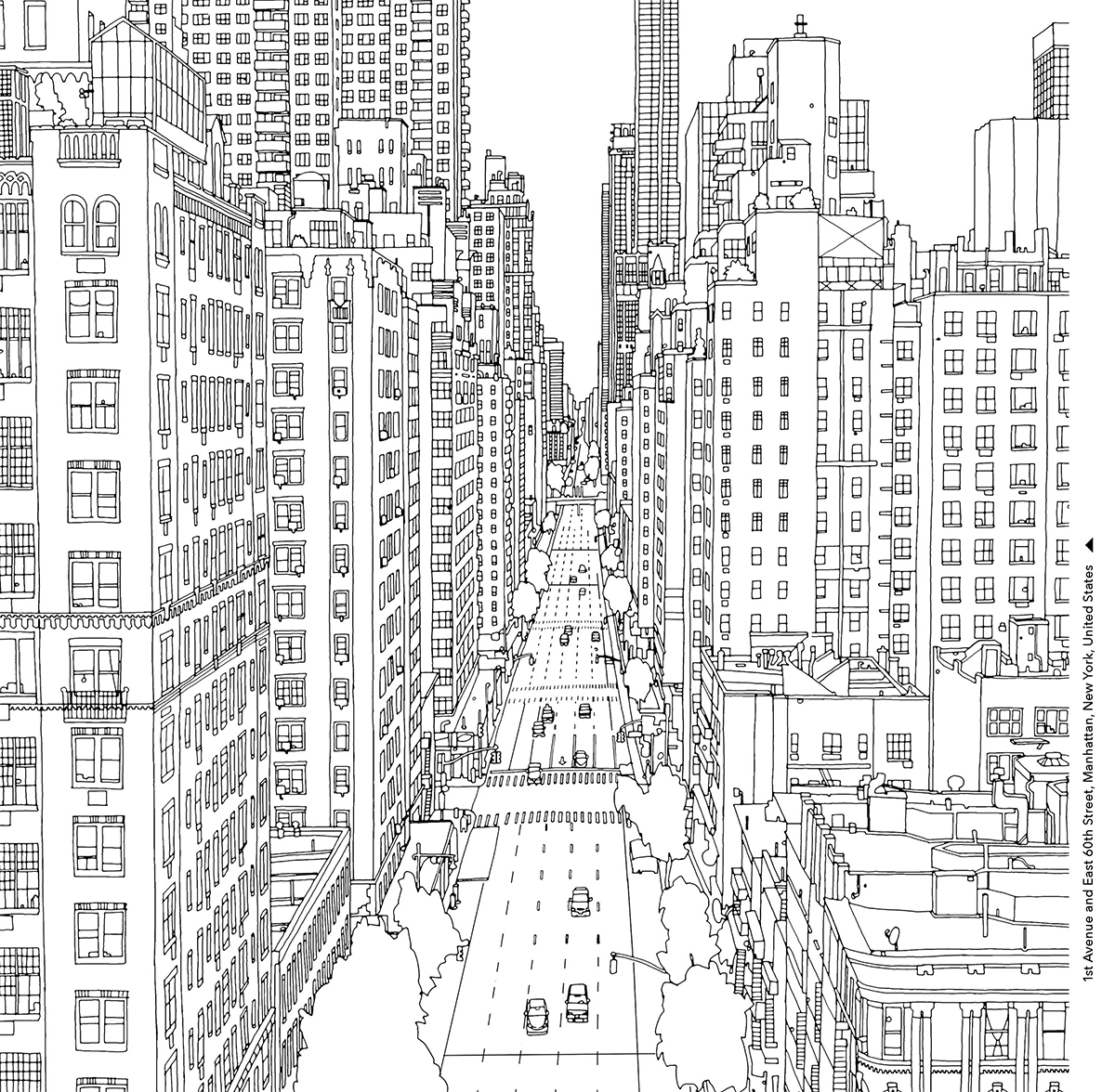 City coloring pages to download