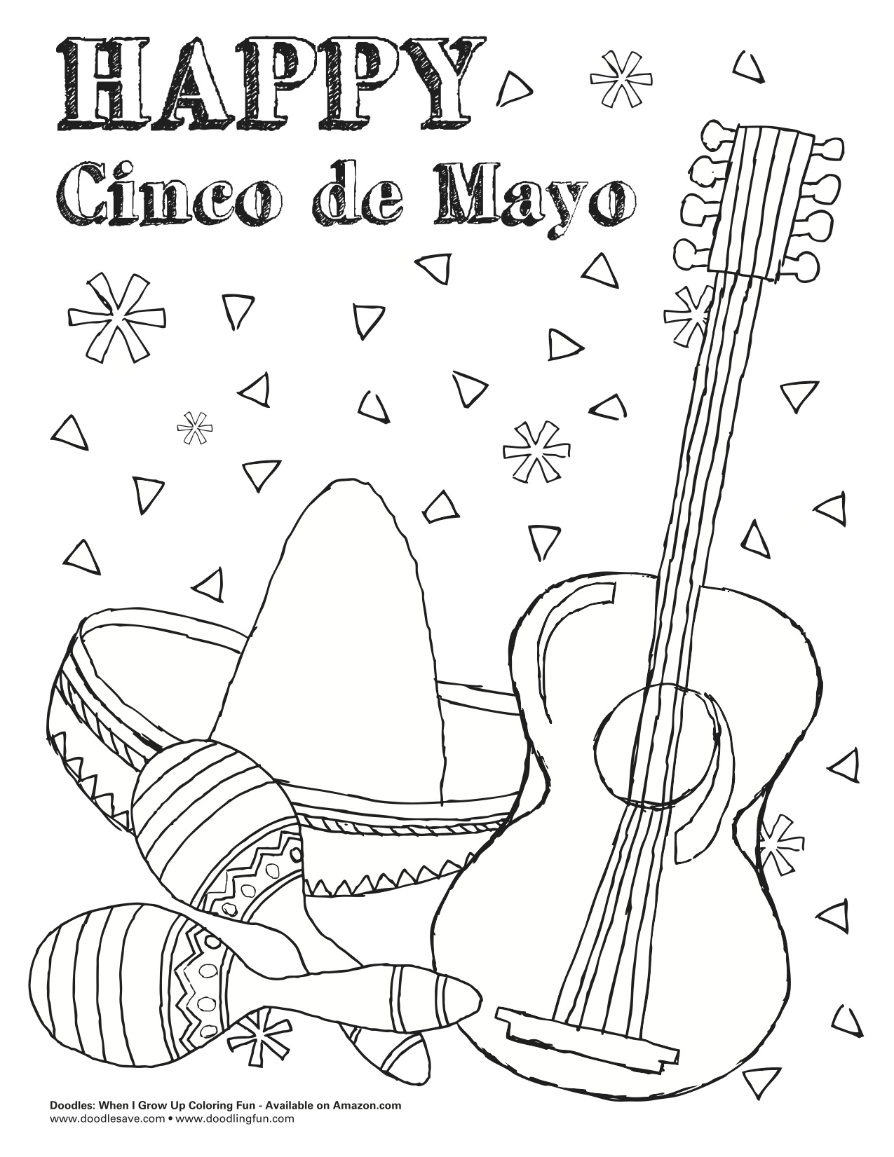 Cinco de mayo coloring pages to