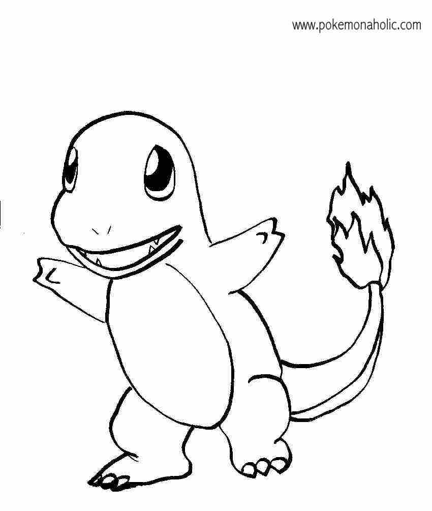 Charmander coloring pages