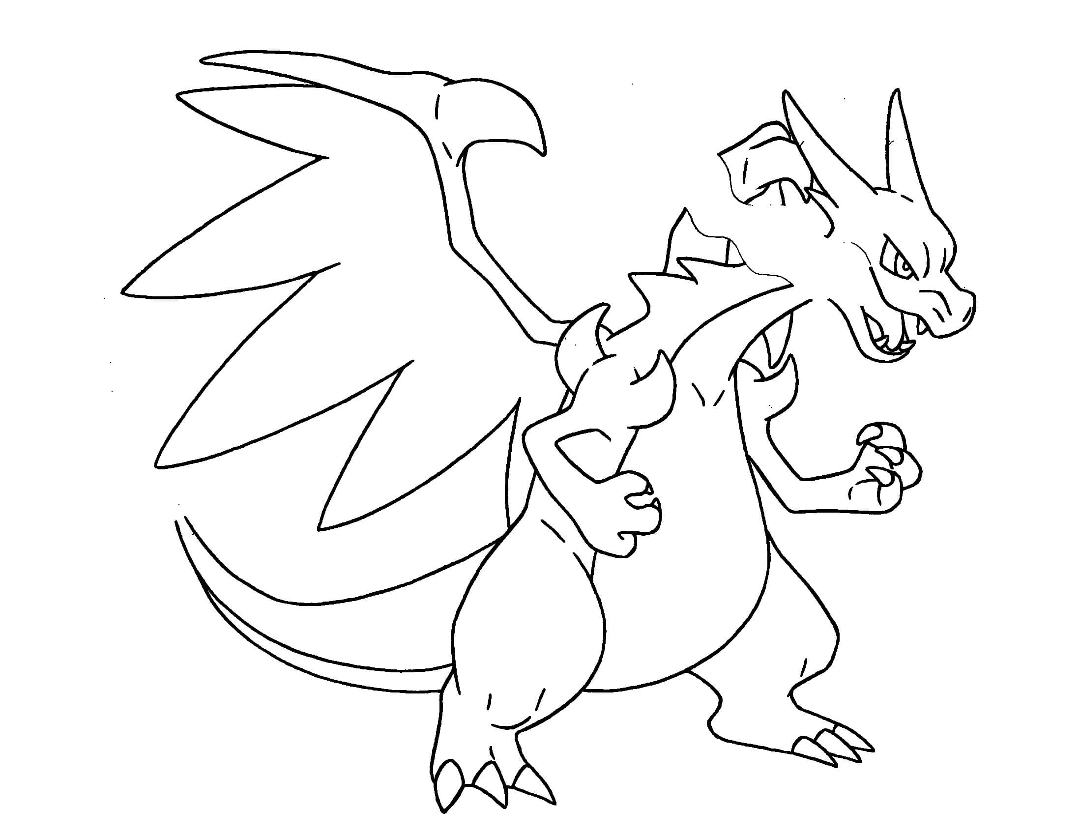 charizard coloring pages to and print for free