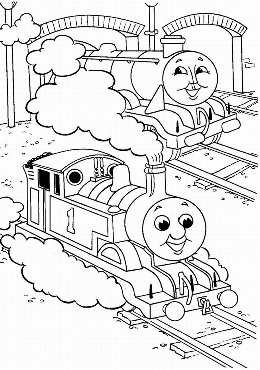 Rosie train coloring - Thomas The Tank Engine Coloring Pages