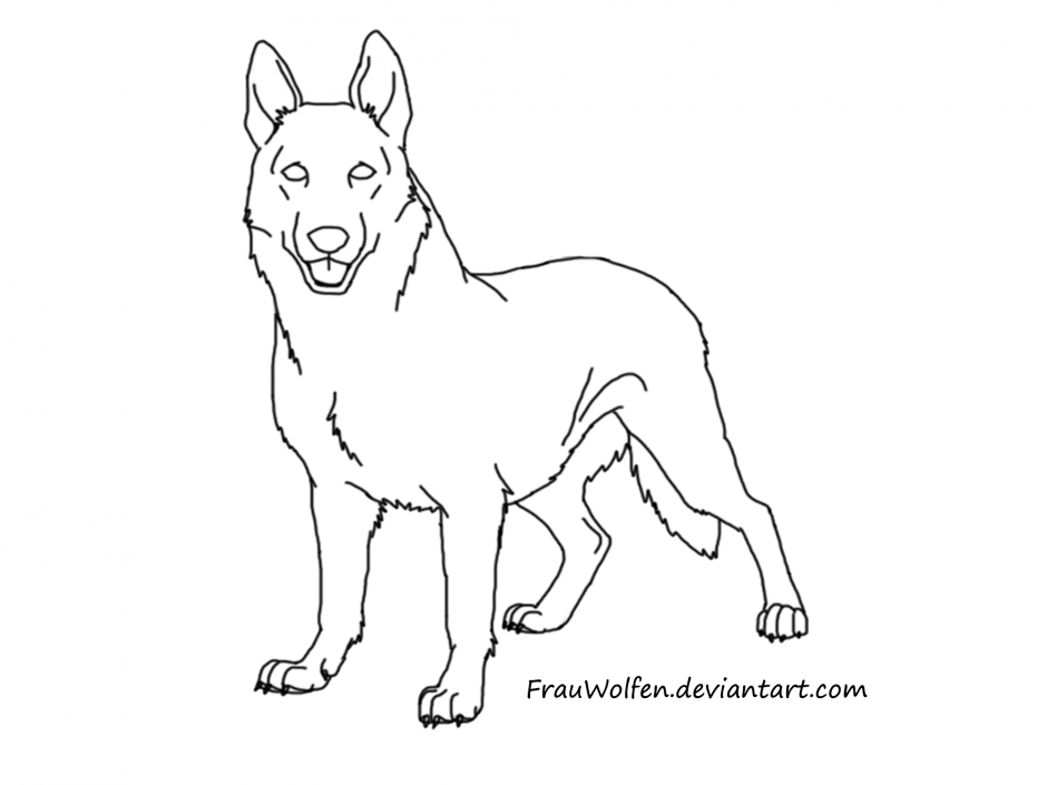 Free German Shepherd Coloring Pages To Print For Kids Download And Color