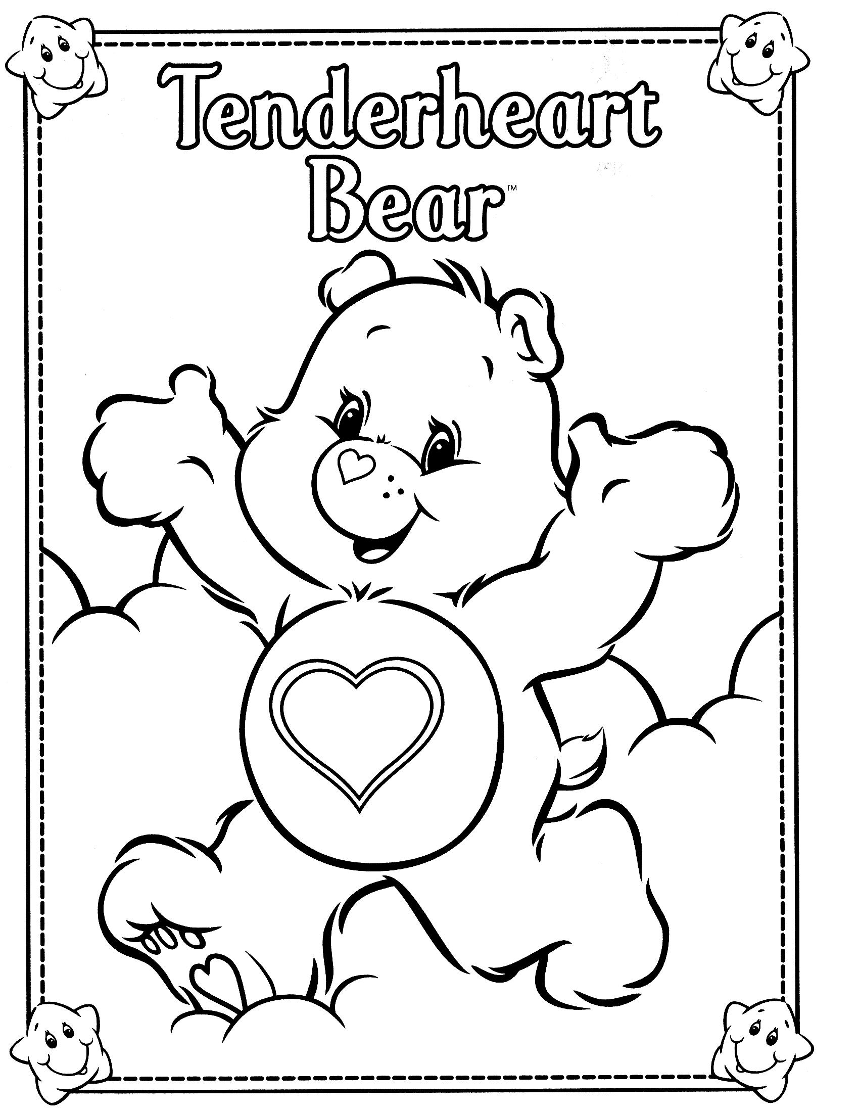 Care bear coloring pages to download and print for free for Care bears coloring pages