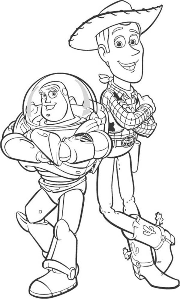 Buzz lightyear coloring pages to download and print for free
