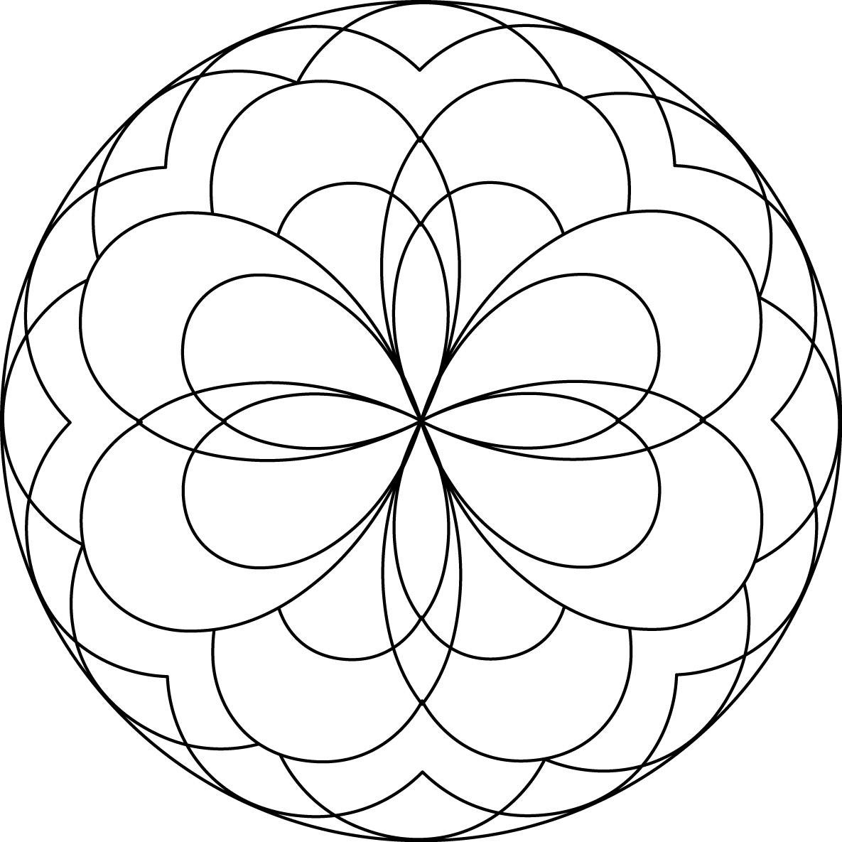 mandala coloring pages for kids - Childrens Coloring Pages Print