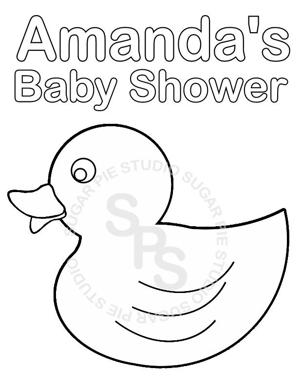Baby shower coloring pages to download