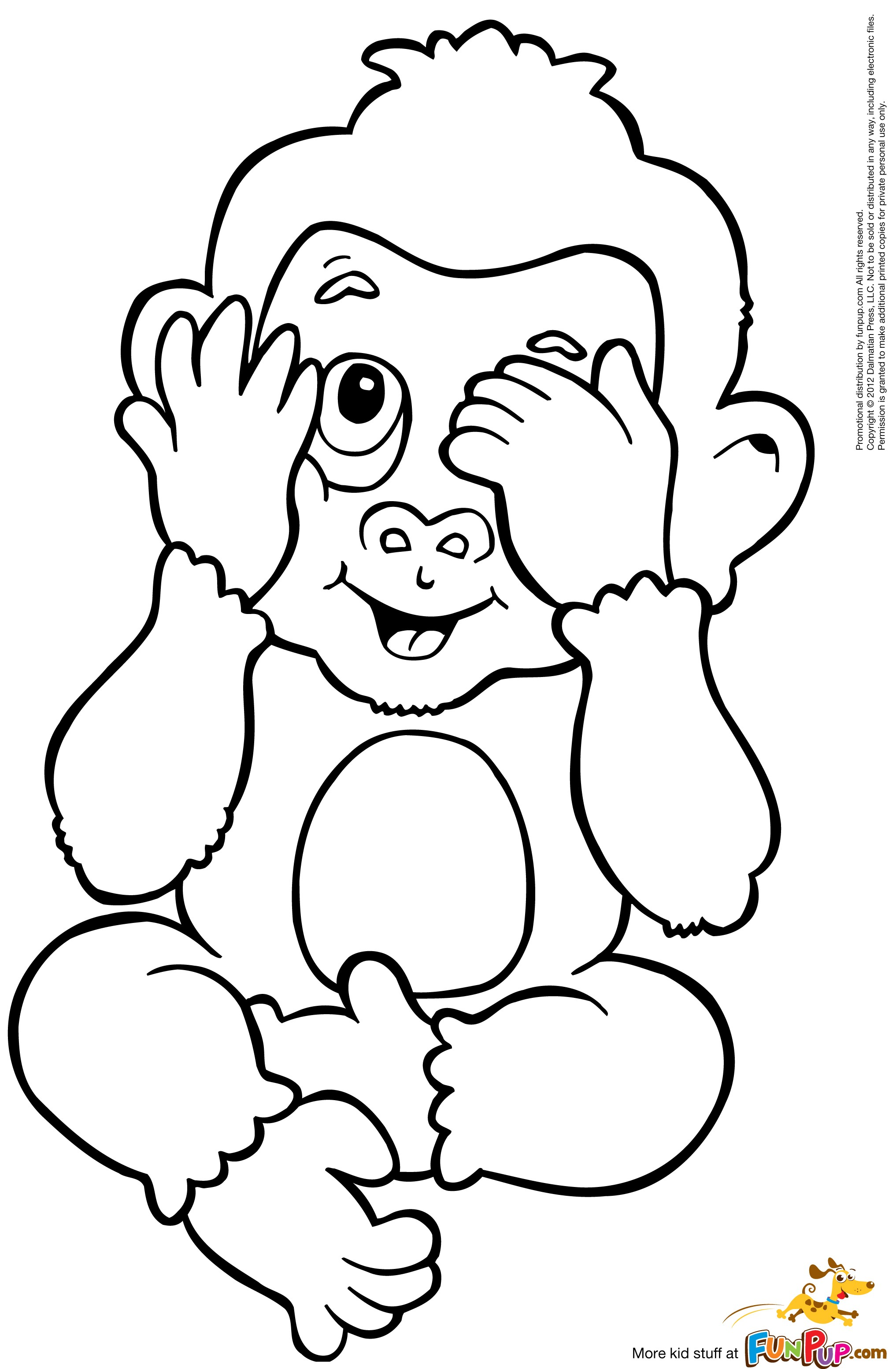 It is an image of Dashing Coloring Pages Of Monkeys