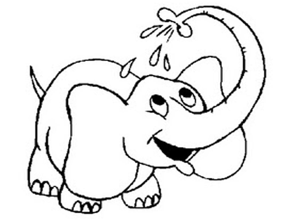 baby elephant coloring pages print - photo#10