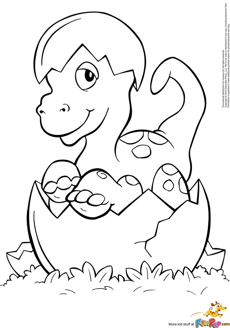 baby dinosaur coloring pages to and print for free