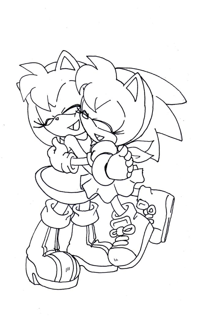 amy rose coloring pages to download and print for free