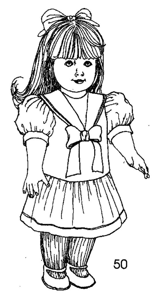 American girl doll coloring pages to download and print for American girl doll coloring page
