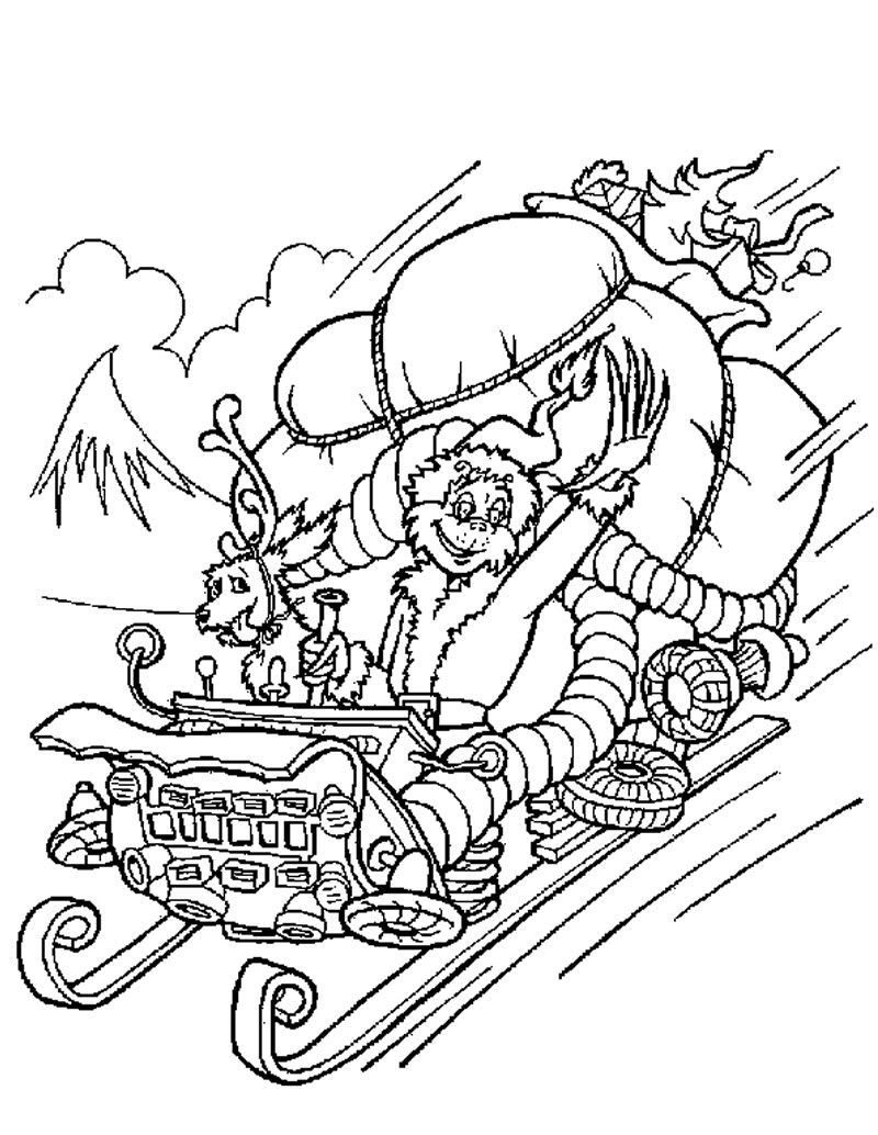 It's just a photo of Challenger Coloring Pages Of The Grinch