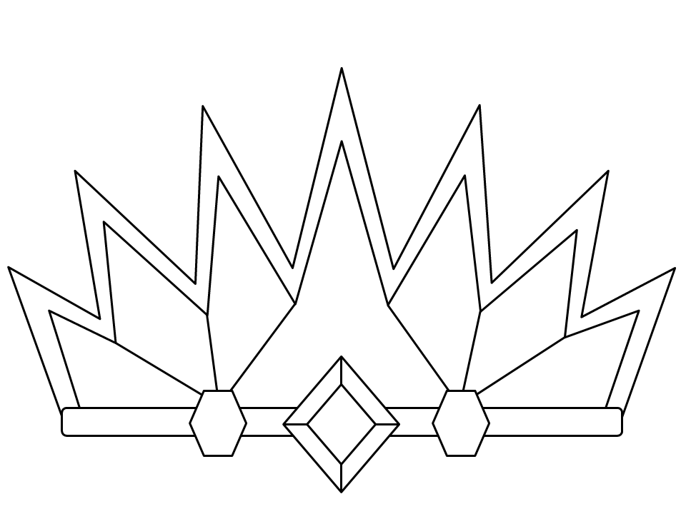 coloring pages with crowns - photo#31