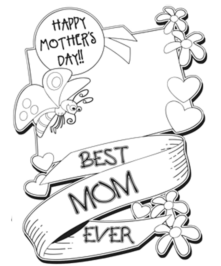 coloring pages mom and kids - photo#44