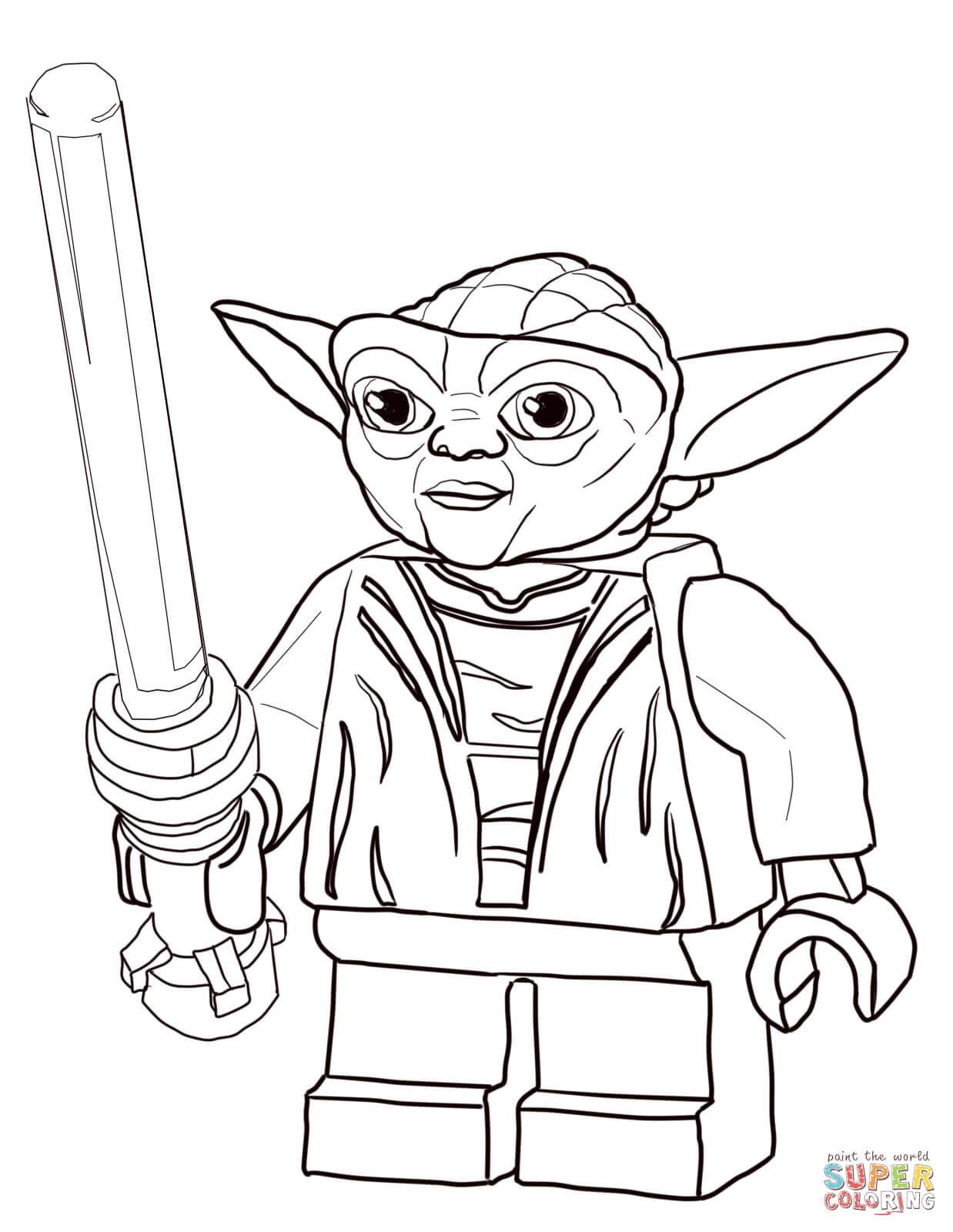 Free coloring pages to print star wars - Star Wars Yoda Coloring Pages