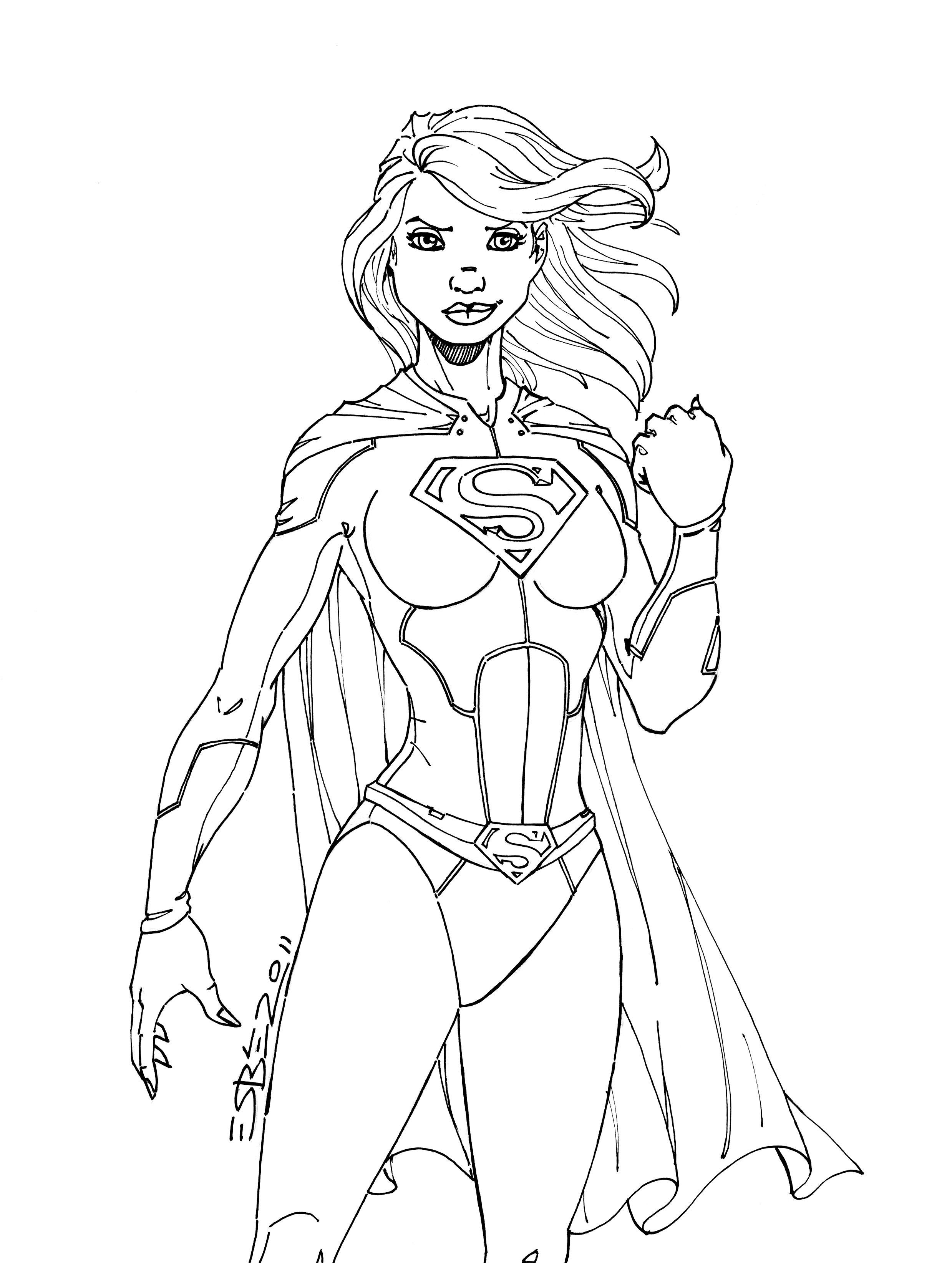 Supergirl Coloring Pages To Download And Print For Free Batgirl And Supergirl Coloring Pages Printable