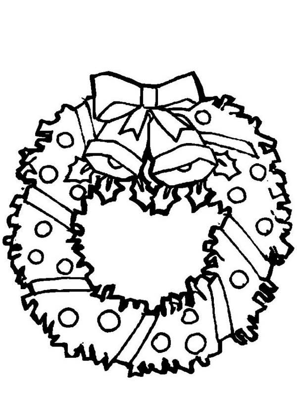 It's just a picture of Dynamic Wreath Coloring Pages