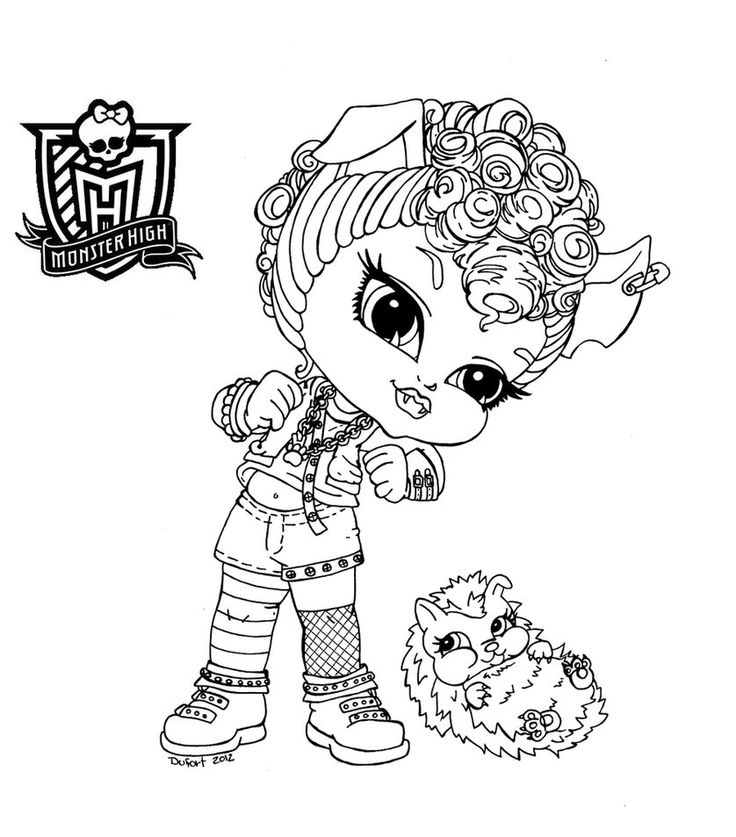 Chibi Monster High Coloring Pages Download And Print For Free High Baby Coloring Pages
