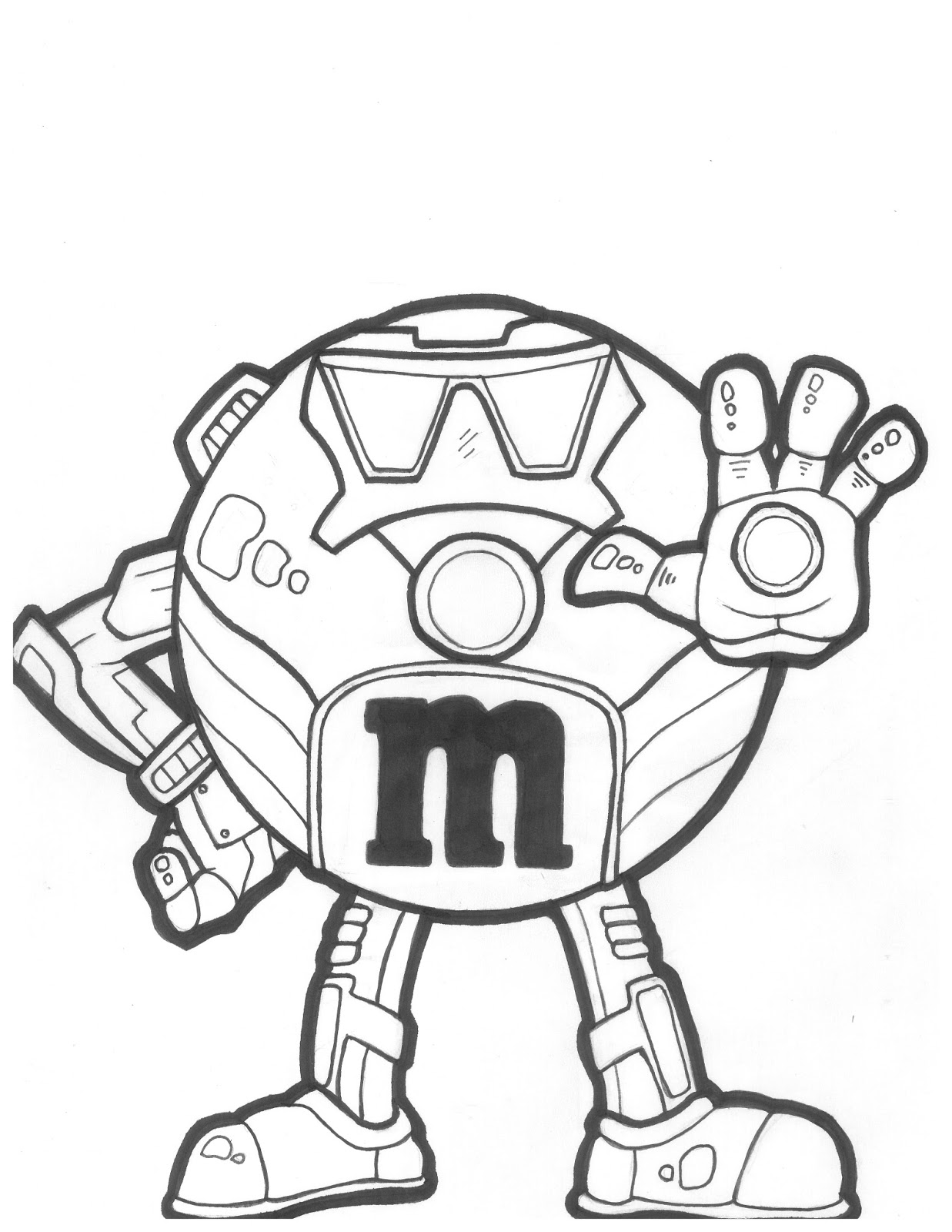 m and m coloring pages for kids - photo #16
