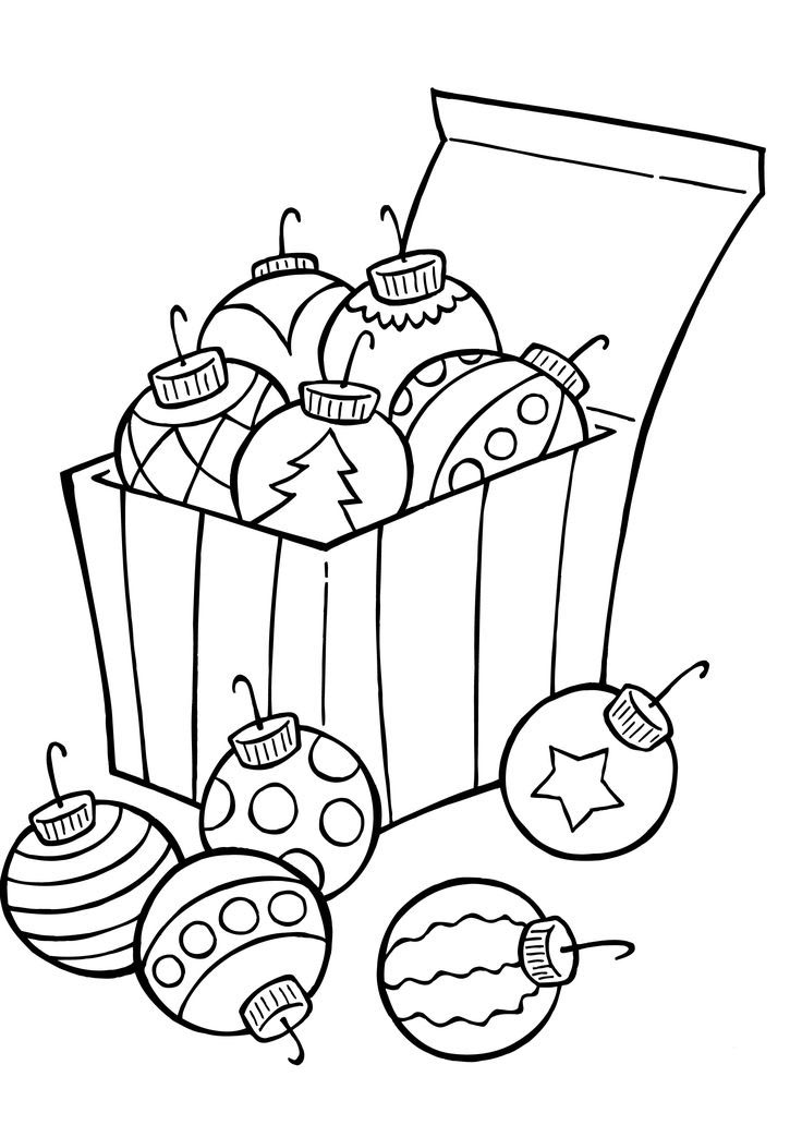 Christmas balls coloring pages to download and print for free