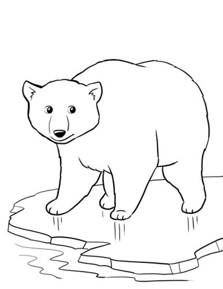 This is a picture of Dashing Polar Bear Printable