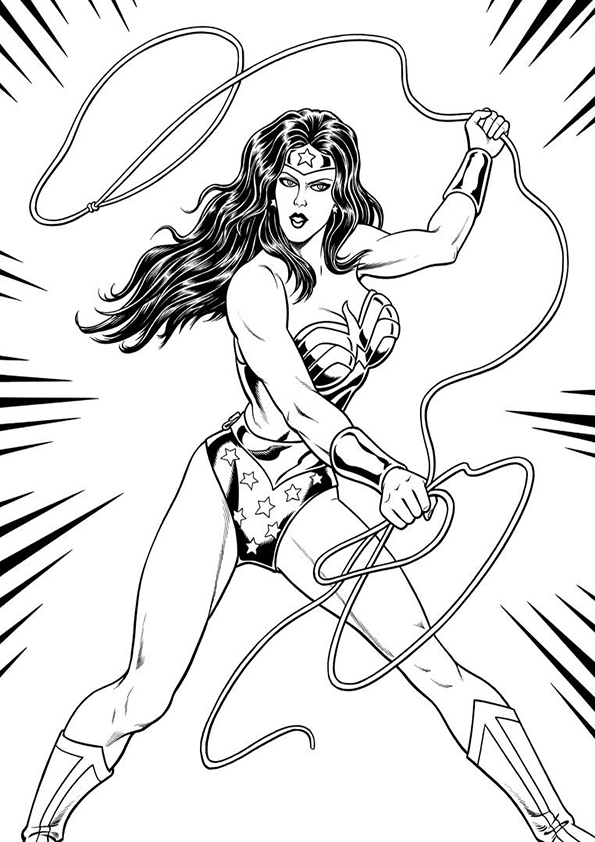 Free Wonder Woman Coloring Pages To Print For Kids Download And Color