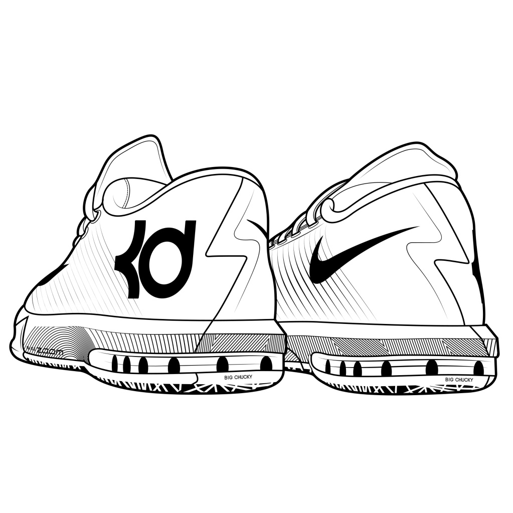 kd nike shoes coloring pages - photo#8