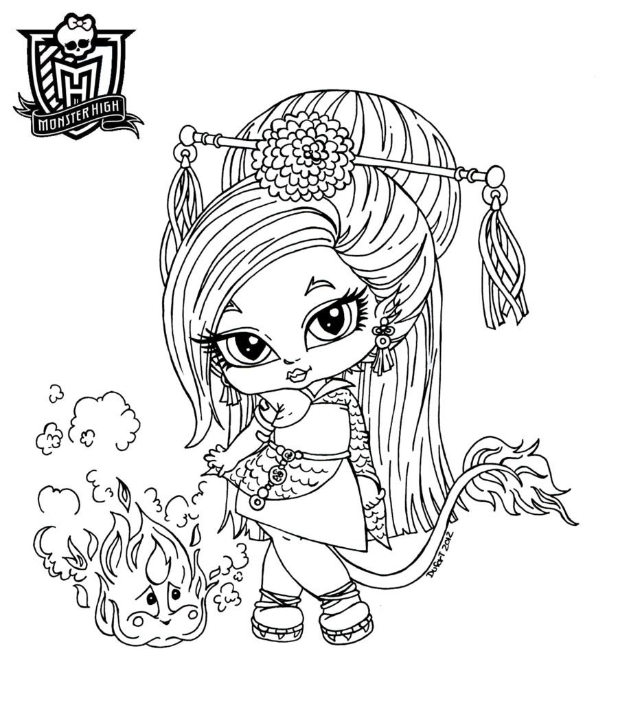 Chibi monster high coloring pages download and print for free - Dessin monster ...