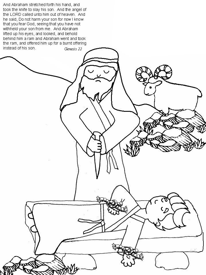baby isaac bible coloring pages - photo#3