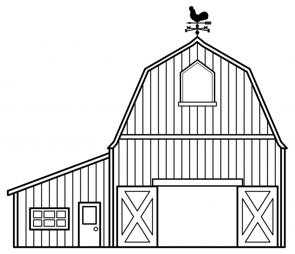 It is a photo of Tactueux Barn Coloring Sheet