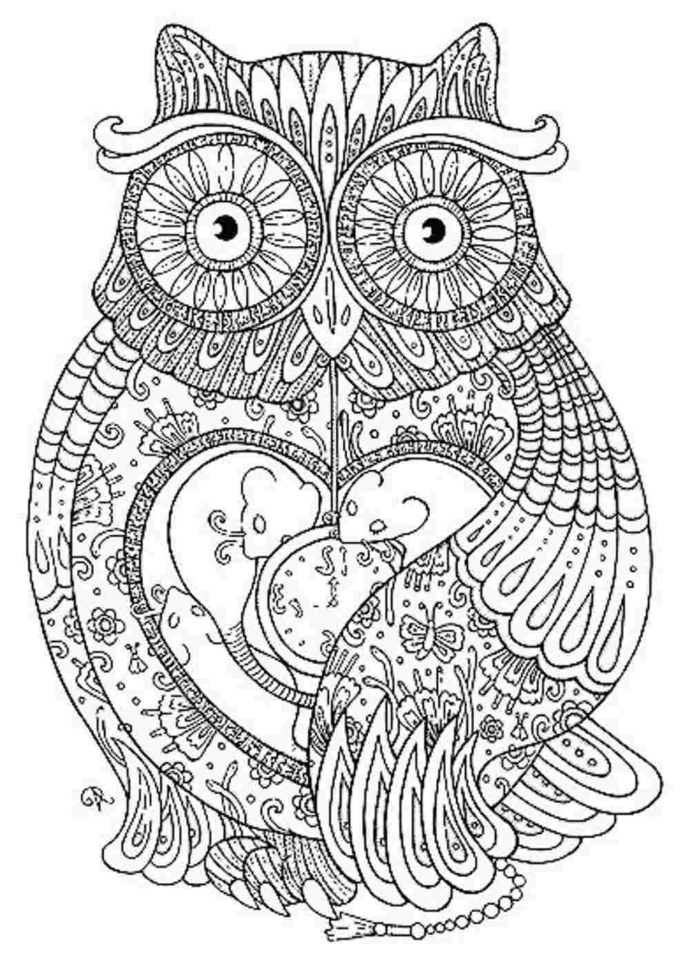 pattern animal coloring pages - Hard Animal Coloring Pages