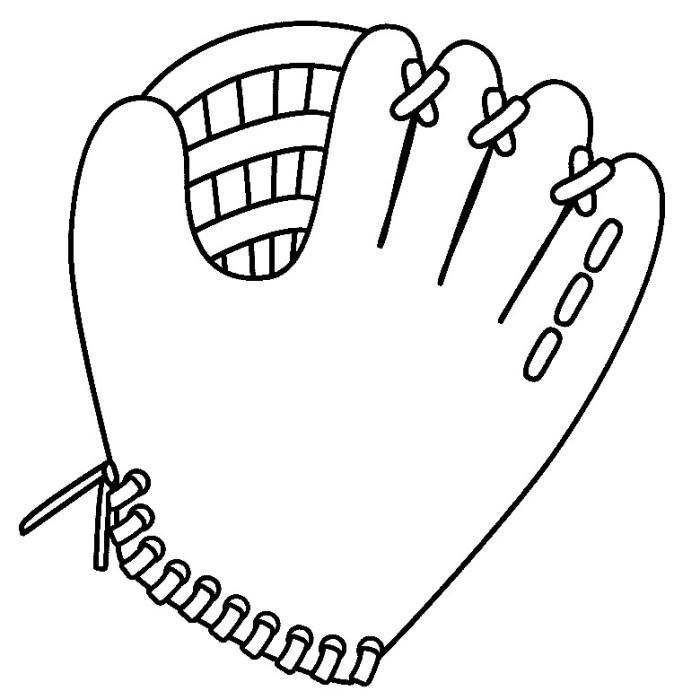 Softball Coloring Pages