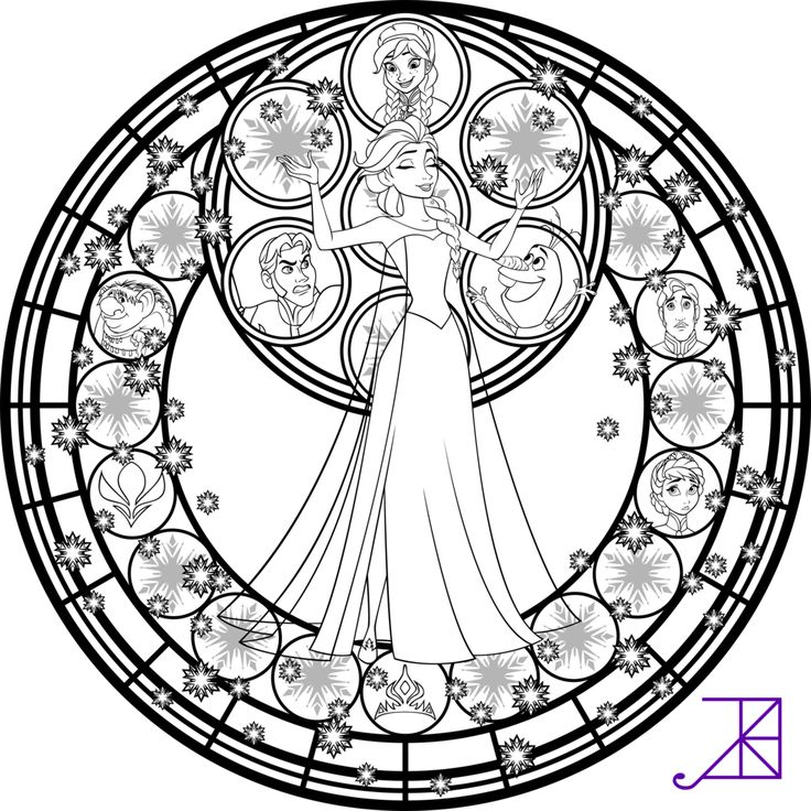 Medieval Stained Glass Coloring Pages Download And Print For Free