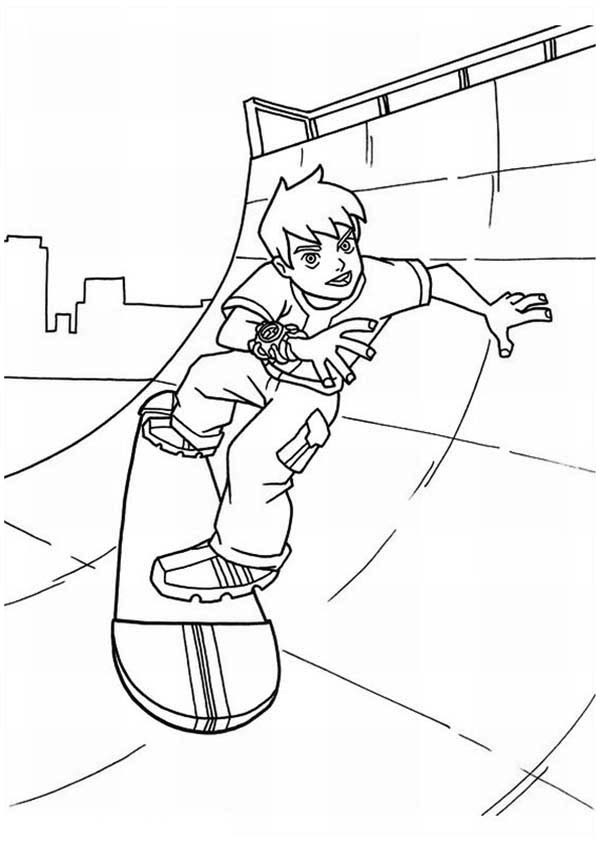 free skateboarding coloring pages - photo#11