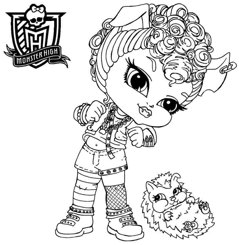 Howleen wolf coloring pages download and print for free for Print monster high coloring pages