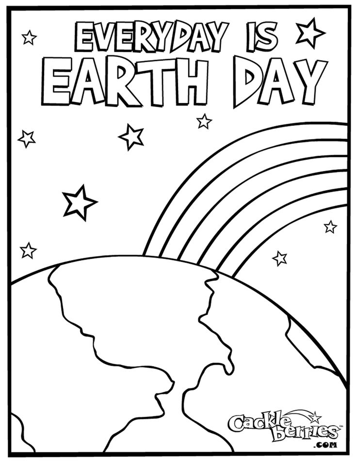 Kindergarten earth day coloring