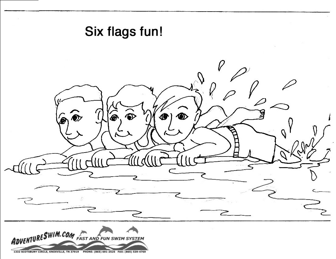 swimming safety coloring pages - Swimming Coloring Pages