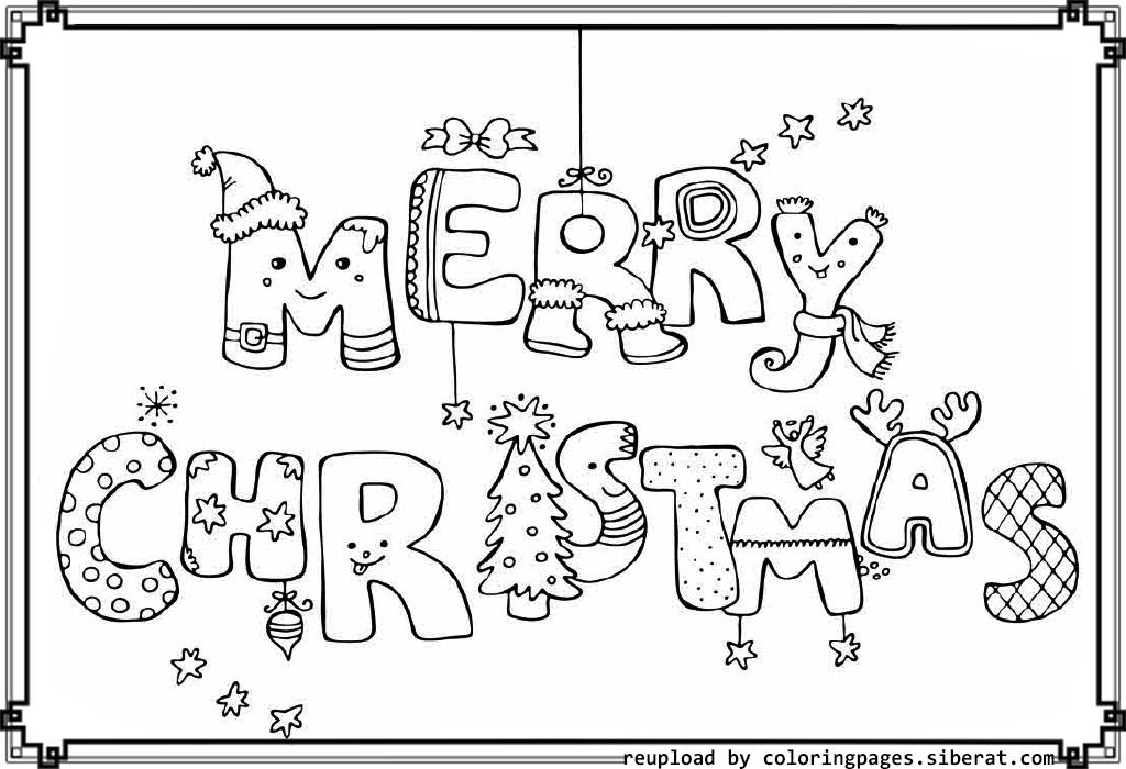 Happy christmas coloring pages download and print for free for Pictures of christmas coloring pages