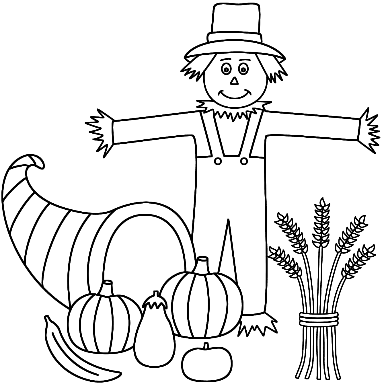 scarecrow coloring pages - Scarecrow Coloring Pages