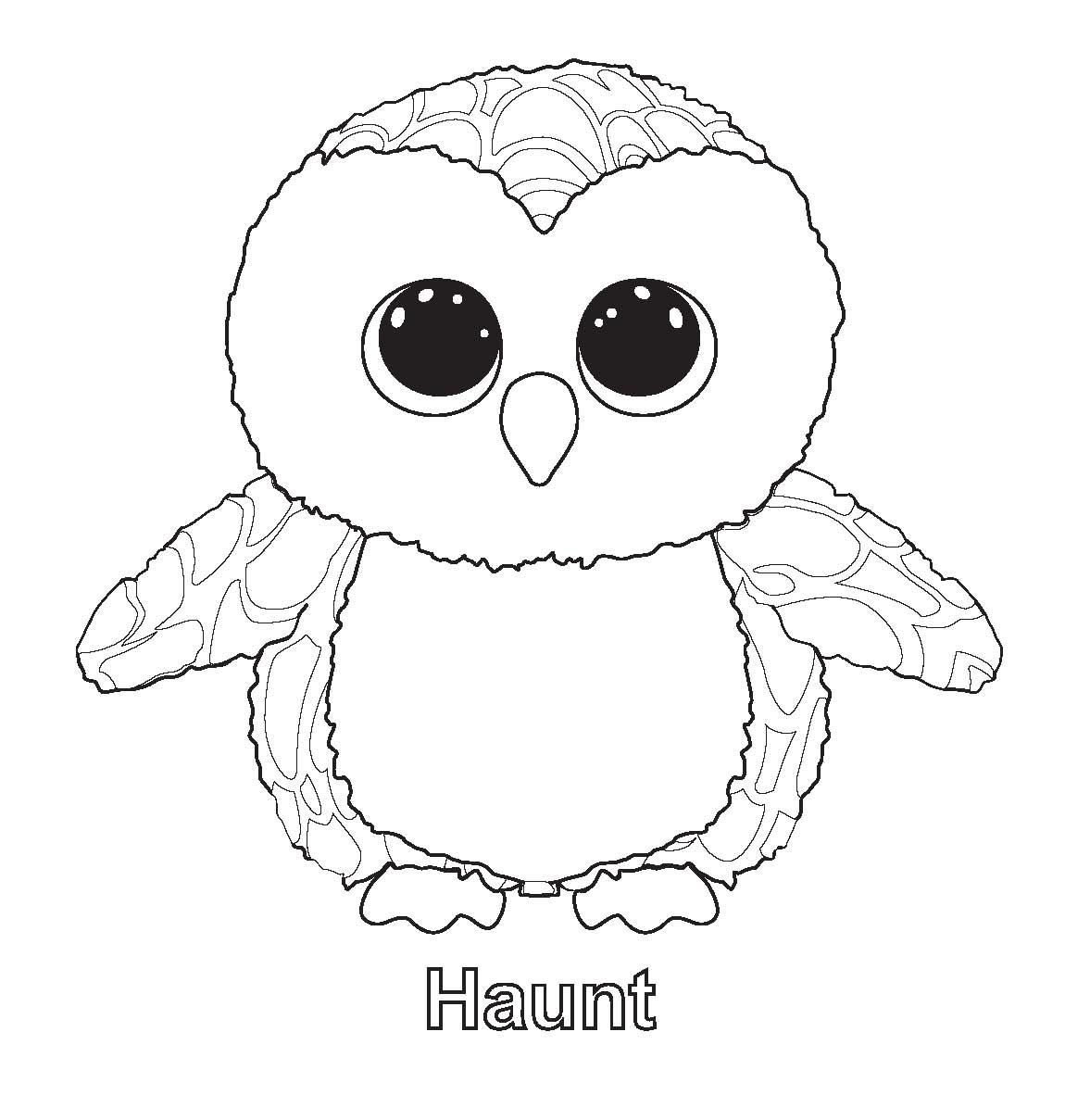 Colouring sheets eyes - Ty Beanie Boo Coloring Pages