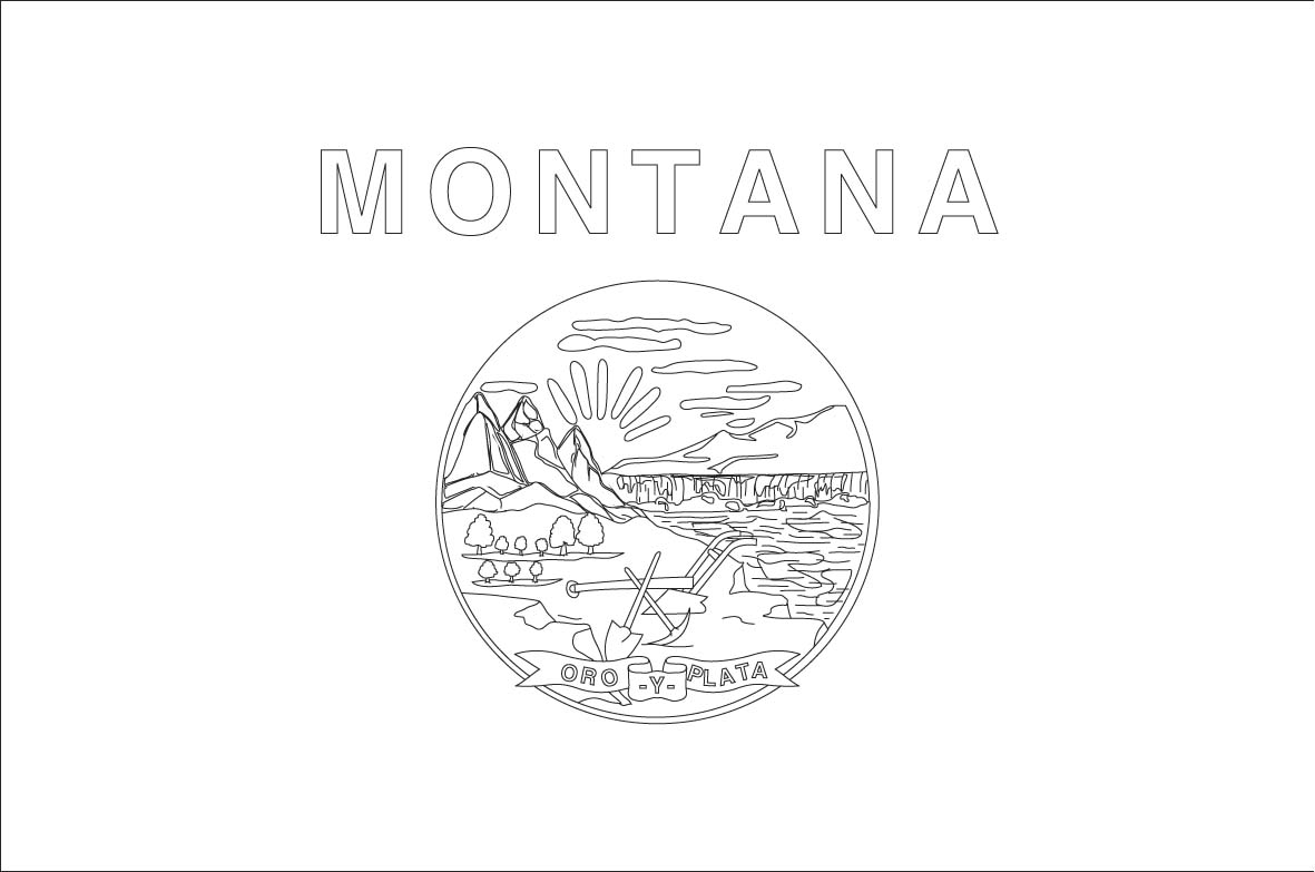 Montana free printable coloring pages ~ Montana symbols coloring pages download and print for free