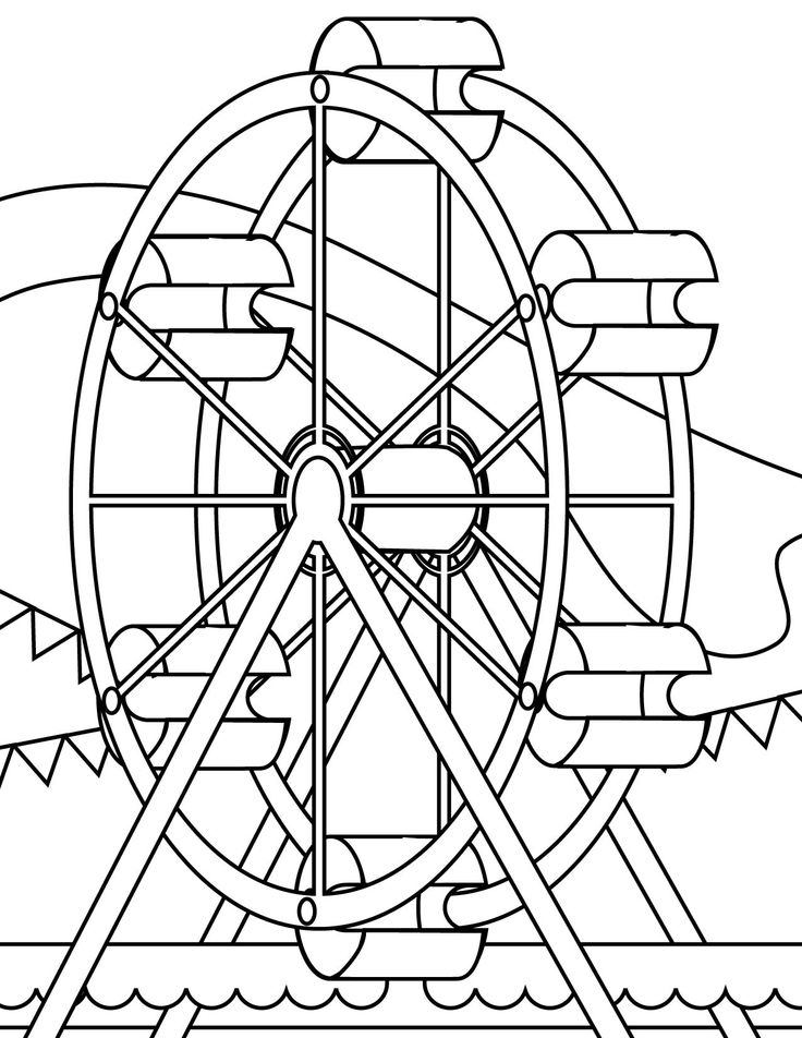 carnival rides coloring pages download and print for free Carnival Coloring Pages to Print  Carnival Rides Coloring Pages