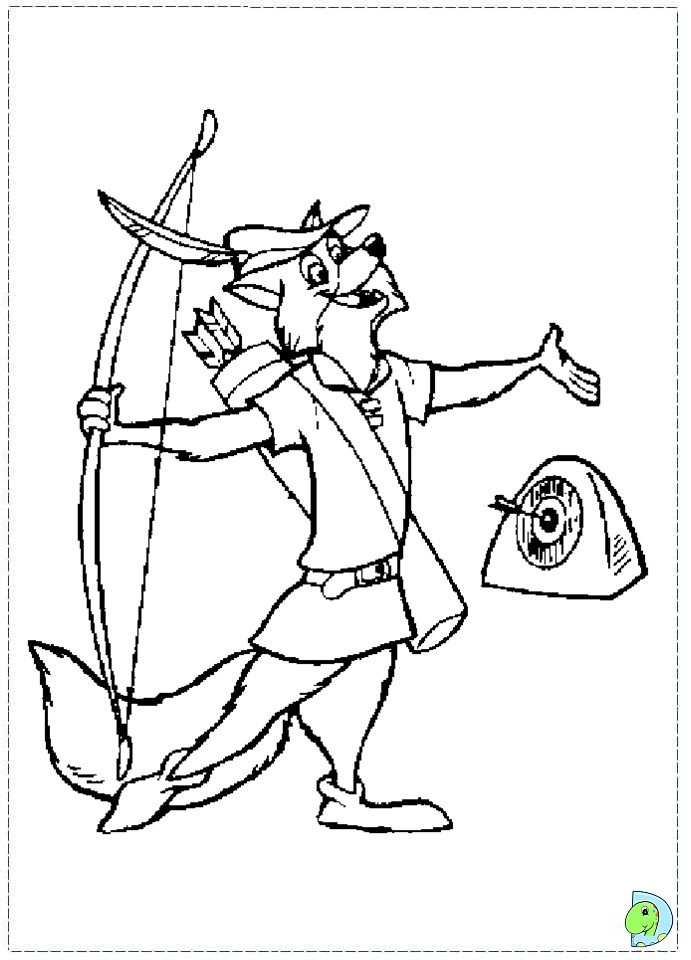 Robin hood coloring pages to download