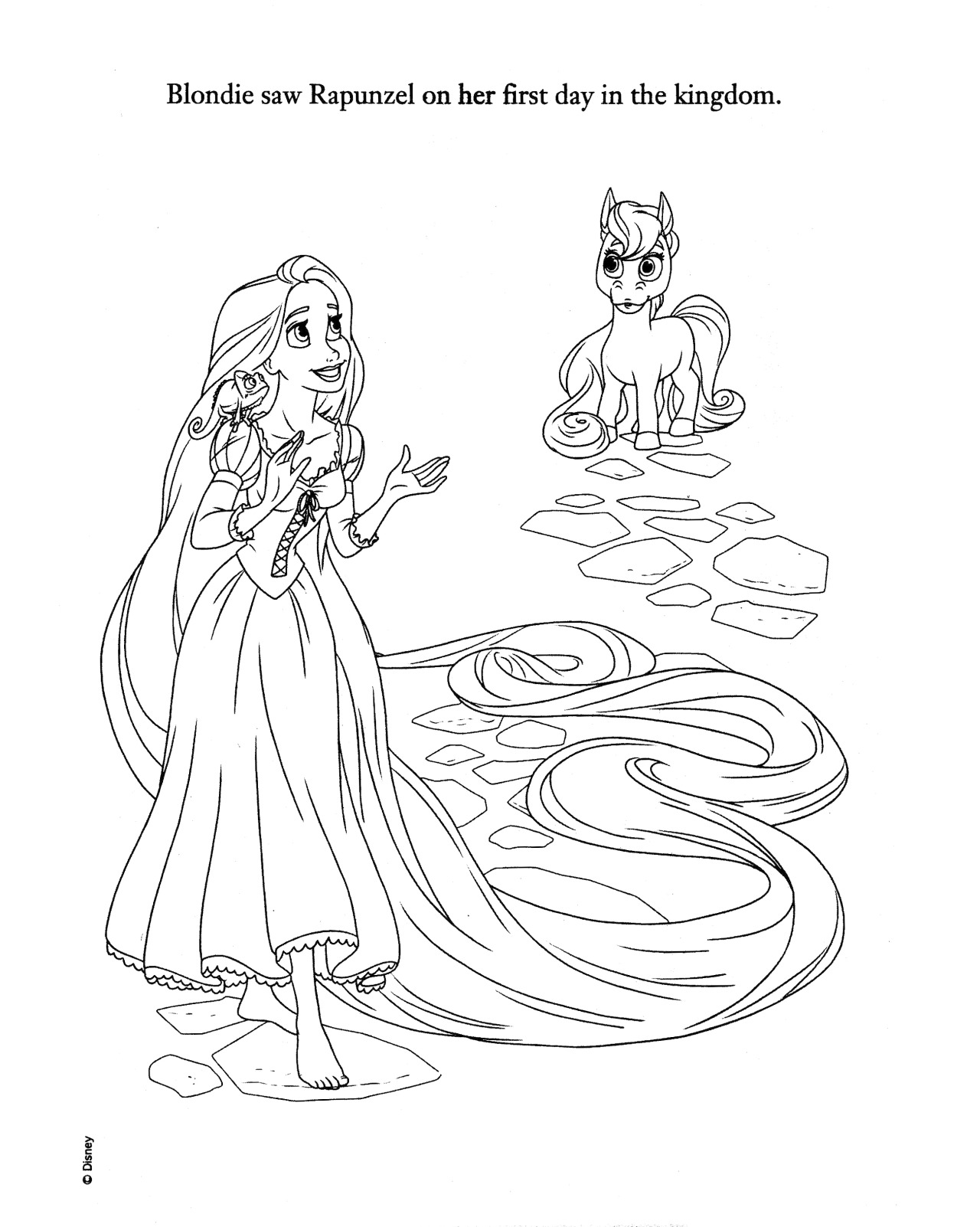 Doll palace princess coloring pages
